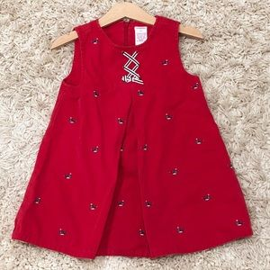 Vintage Gymboree embroidered whale dress 2T